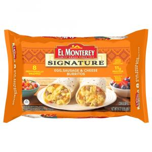 El Monterey Signature Egg Sausage & Cheese Burritos