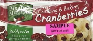 Paradise Meadow Cooking & Baking Whole Dried Cranberries