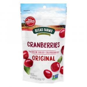 Decas Farms Premium Dried Cranberries