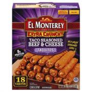 El Monterey Beef Extra Crunchy Taquitos