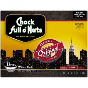 Chock Full O' Nuts Original Medium Coffee Pods