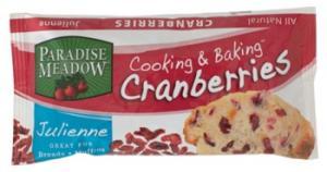 Paradise Meadow Baking Cranberries Cranberry-apple Julienne