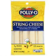Polly-O Creamy String Cheese Mozzarella with Whole Milk
