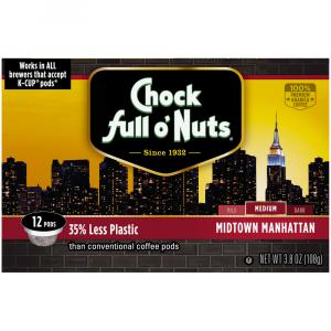 Chock full o'Nuts Medium Roast Mid Town K-Cups