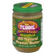 Teddie Unsalted Super Chunky Peanut Butter