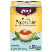 Yogi Organic Purely Peppermint Herbal Tea Bags