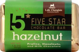 Lake Champlain Five Star Hazelnut Bar