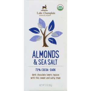 Lake Champlain Organic 72% Almond and Salt Chocolate