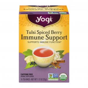 Yogi Tulsi Spiced Berry Immune Support Herbal Supplement