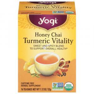 Yogi Organic Honey Chai Turmeric Vitality Herbal Supplement