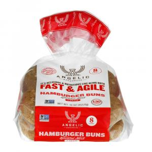 Angelic Fast & Agile Sprouted Mash 7 Grain Hamburger Buns