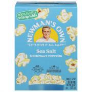 Newman's Own Sea Salt Microwave Popcorn