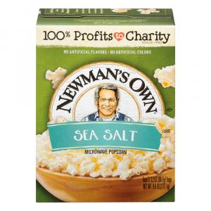 Newman's Own Sea Salt Microwave Popcorn