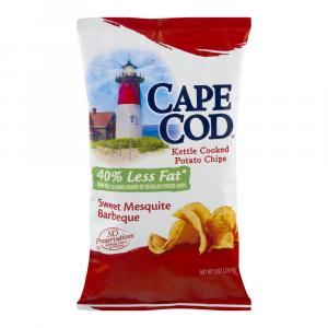 Cape Cod Potato Chips Reduced Fat Sweet Mesquite Barbecue