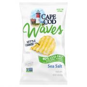 Cape Cod Potato Chips Waves Reduced Fat Sea Salt
