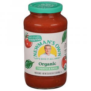 Newman's Own Organics Tomato & Basil Pasta Sauce