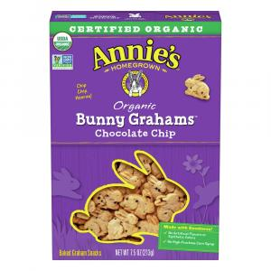 Annie's Homegrown Organic Chocolate Chip Bunny Graham Snacks