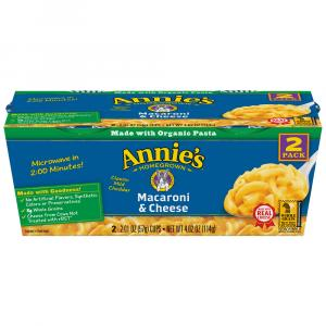 Annie's Classic Macaroni & Cheese 2 Pack Cups