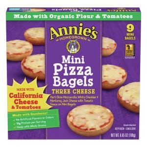 Annie's Three Cheese Mini Pizza Bagels