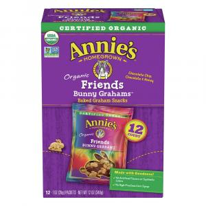 Annie's Organic Friends Bunny Grahams Baked Snack Crackers