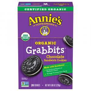 Annie's Organic Grabbits Chocolate Sandwich Cookies