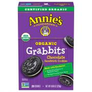 Annie's Organic Grabbits Chocolate Sandwich Cookies
