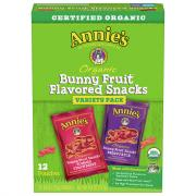 Annie's Organic Bunny Fruit Snack Variety Pack