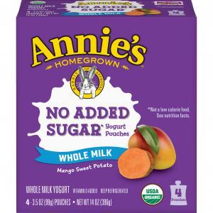 Annie's Mango Sweet Potato Pouch Organic Yogurt