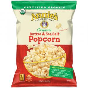Annie's Organic Butter And Sea Salt Popcorn