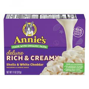 Annie's Deluxe Rich & Creamy Shells & White Cheddar