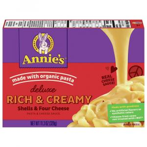 Annie's Deluxe Rich & Creamy Shells & Four Cheese