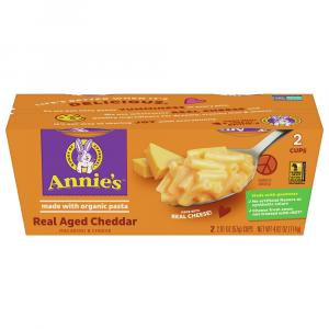 Annie's Real Aged Cheddar Macaroni & Cheese 2 Pack Cups