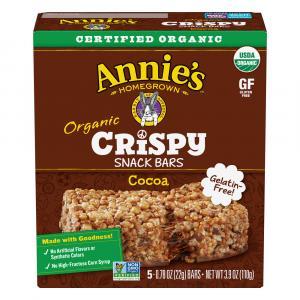 Annie's Organic Crispy Snack Bars Cocoa