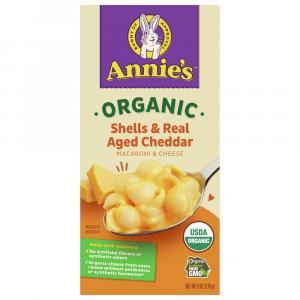 Annie's Organic Homegrown Shells & Wisconsin Cheddar