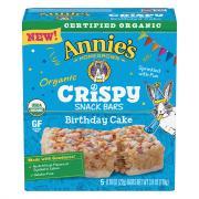 Annie's Organic Crispy Snack Bars Birthday Cake