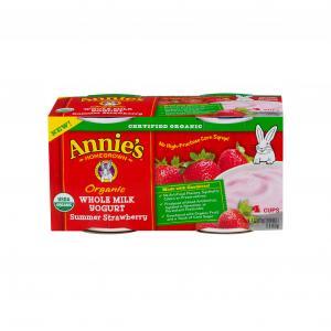 Annie's Homegrown Summer Strawberry Organic Yogurt