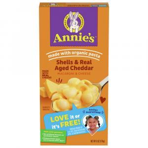 Annie's Shells & Wisconsin Cheddar