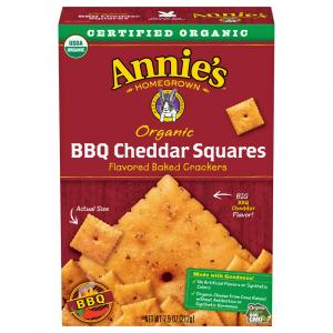 Annie's Organic Bbq Cheddar Squares