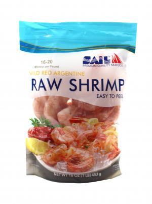 Sail Shrimp 16/20 Wild Raw EZ Peel Argentine Shrimp