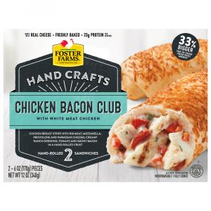 Foster Farms Hand Crafts Chicken Bacon Club Sandwiches