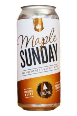 Lone Pine Brewing Maple Sunday Maple Brown Ale