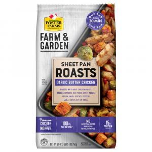 Foster Farms Sheet Pan Roasts Garlic Butter Chicken