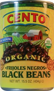 Cento Organic Low Sodium Black Beans