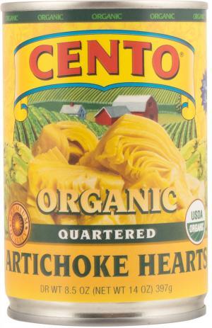 Cento Organic Quartered Artichoke Hearts