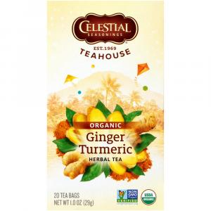 Celestial Organic Ginger Turmeric Herbal Tea