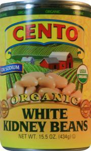 Cento Organic Low Sodium White Kidney Beans