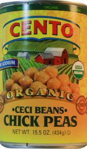 Cento Organic Low Sodium Cici Beans Chickpeas