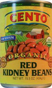 Cento Organic Low Sodium Red Kidney Beans