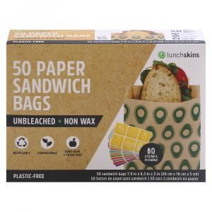 Lunchskins Paper Sandwich Bags Avocados