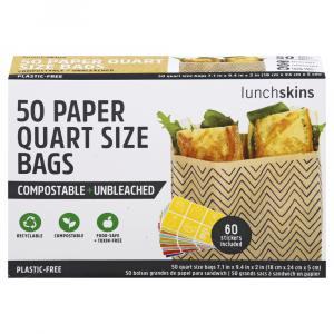 Lunchskins Paper Quart Bags Chevron